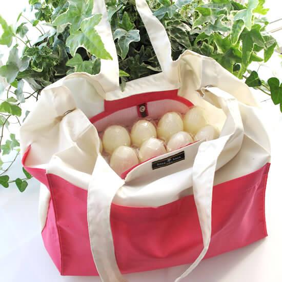 イチゴも卵も潰さず運べる。